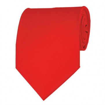 Coral Red Solid Color Ties Mens Neckties