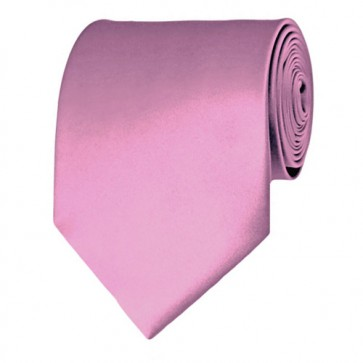 Dusty Pink Solid Color Ties Mens Neckties