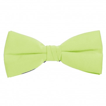 Pear Green Bow Tie Solid Pre-tied Satin Mens Ties