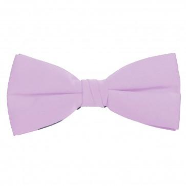 Lavender Bow Tie Solid Pre-tied Satin Mens Ties