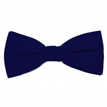 Navy Bow Tie Solid Pre-tied Satin Mens Ties
