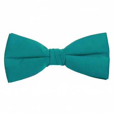 Turquoise Bow Tie Solid Pre-tied Satin Mens Ties