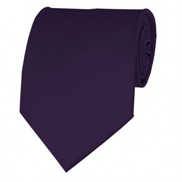 Eggplant Solid Color Ties Mens Neckties