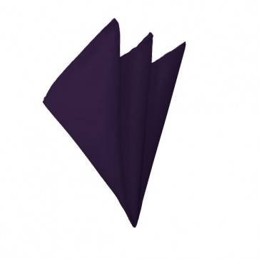 Solid Eggplant Hanky Mens Handkerchief Pocket Square