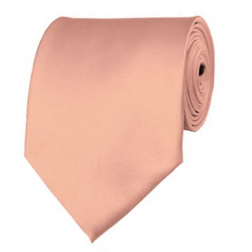Light Salmon Solid Color Ties Mens Neckties