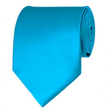 Turquoise Blue Solid Color Ties Mens Neckties