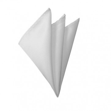 Solid White Hanky Mens Handkerchief Pocket Square