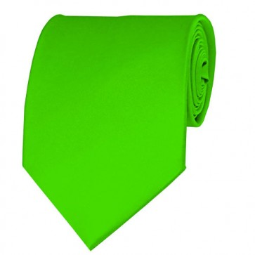 Lime Green Solid Color Ties Mens Neckties