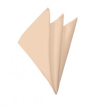Solid Peach Hanky Mens Handkerchief Pocket Square