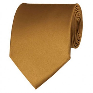 Copper Solid Color Ties Mens Neckties