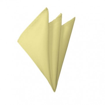 Solid Light Yellow Hanky Mens Handkerchief Pocket Square