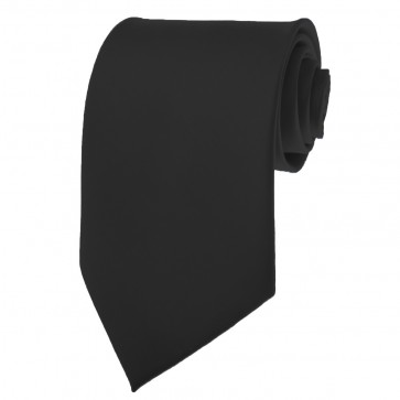 Black Ties Mens Solid Color Neckties