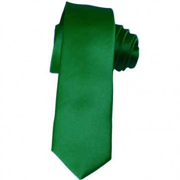 Solid Kelly Green Skinny Ties Solid Color 2 Inch Mens Neckties