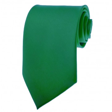 Kelly Green Ties Mens Solid Color Neckties