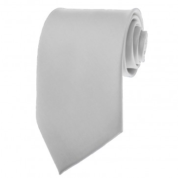 Silver Ties Mens Solid Color Neckties
