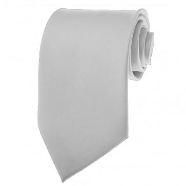 Silver Ties Mens Solid Color Neckties