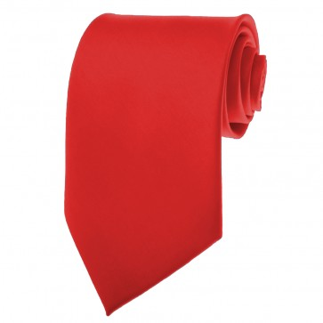 Red Ties Mens Solid Color Neckties