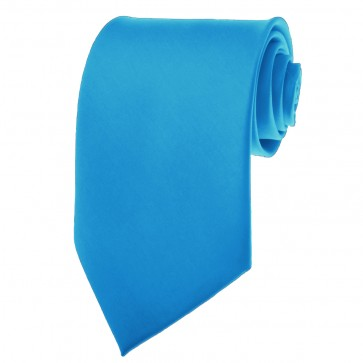 Solid Peacock Blue Skinny Ties Solid Color 2 Inch Mens Neckties