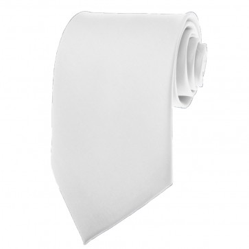 Solid White Skinny Ties Solid Color 2 Inch Mens Neckties