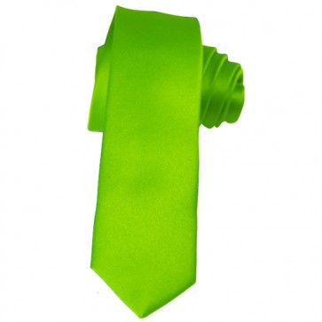 Solid Lime Green Skinny Ties Solid Color 2 Inch Mens Neckties