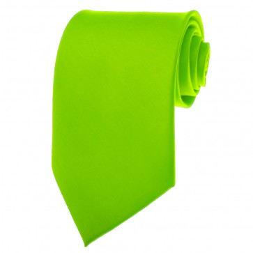 Lime Green Ties Mens Solid Color Neckties