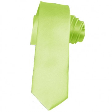 Solid Pear Green Skinny Ties Solid Color 2 Inch Mens Neckties