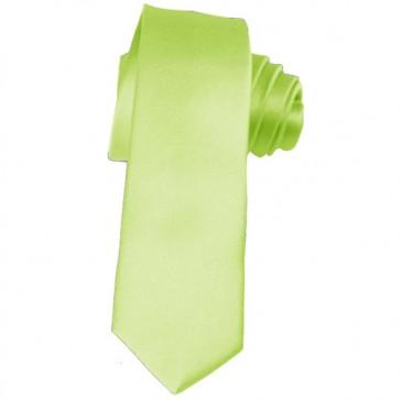 Solid Pear Green Skinny Ties Solid Color 2 Inch Mens Neckties