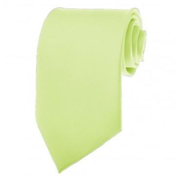 Pear Green Ties Mens Solid Color Neckties