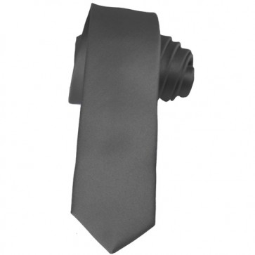 Solid Charcoal Skinny Ties Solid Color 2 Inch Mens Neckties