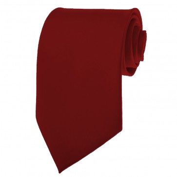 Burgundy Ties Mens Solid Color Neckties