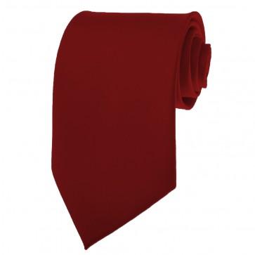 Burgundy Ties Mens Solid Color Neckties