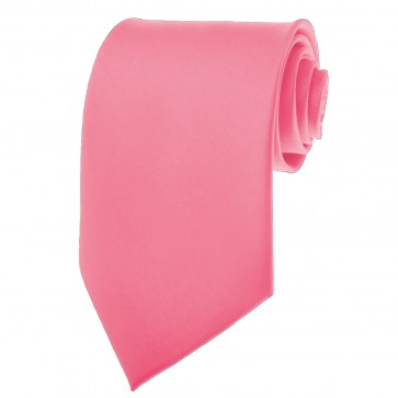 Hot Pink Ties Mens Solid Color Neckties