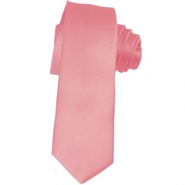 Solid Pink Skinny Ties Solid Color 2 Inch Mens Neckties
