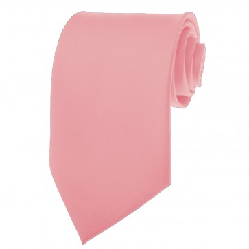 Pink Ties Mens Solid Color Neckties