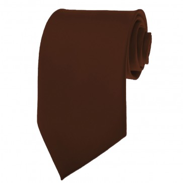 Cocoa BrownTies Mens Solid Color Neckties