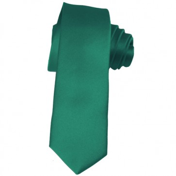 Solid Teal Green Skinny Ties Solid Color 2 Inch Mens Neckties