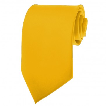 Golden Yellow Ties Mens Solid Color Neckties