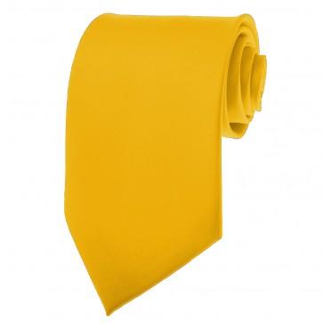Golden Yellow Ties Mens Solid Color Neckties