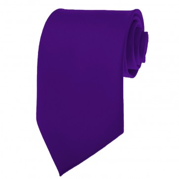 Dark Purple Ties Mens Solid Color Neckties