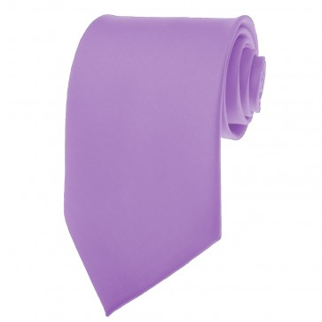 Violet Purple Ties Mens Solid Color Neckties