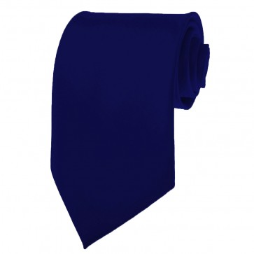 Navy Ties Mens Solid Color Neckties