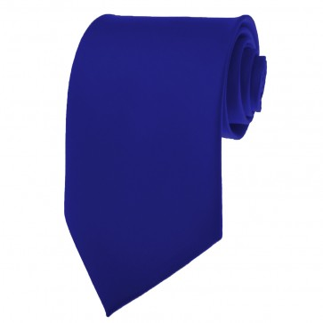 Solid Royal Blue Skinny Ties Solid Color 2 Inch Mens Neckties