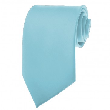 Sky Blue Ties Mens Solid Color Neckties