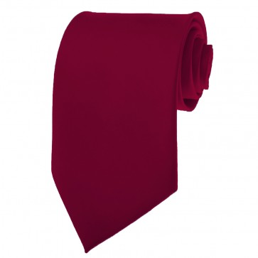 Eggplant Ties Mens Solid Color Neckties