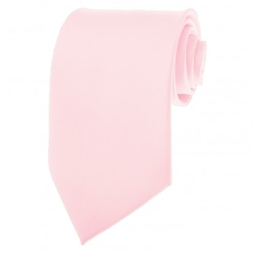 Light Pink Ties Mens Solid Color Neckties