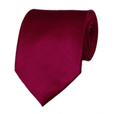 Raspberry Solid Color Ties Mens Neckties