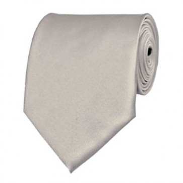 Platinum Solid Color Ties Mens Neckties
