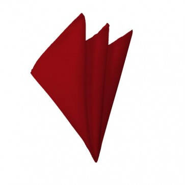 Solid Crimson Hanky Mens Handkerchief Pocket Square