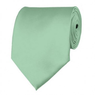 Light Sage Solid Color Ties Mens Neckties