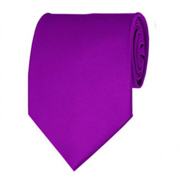 Violet Solid Color Ties Mens Neckties